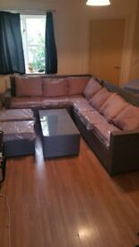 8 Seater garden furniture and coffe table