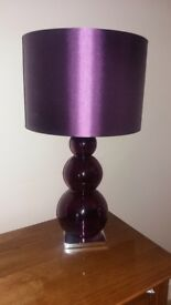 Large table purple bauble lamp