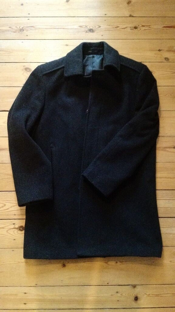 Mens Wool/Cashmere Coat in Charcoal (M)