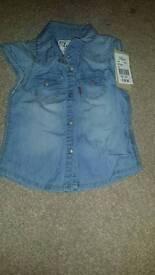 Baby girl levi shirt