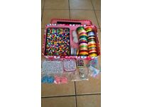 large bead Craft set with beads, ribbon and more