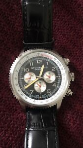 Stührling Chronograph Watch with Black Leather
