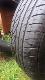 205 55 16 tyres like new 7mm tread