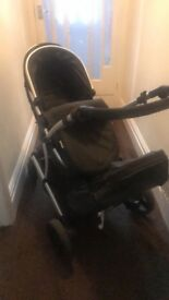 Hauck double pram and car seat