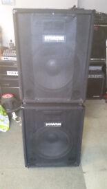 Set of PA Speakers