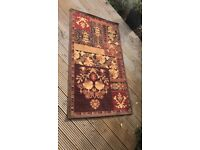 Traditional Style Floral Brown Rug