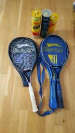 Slazenger panther and CS140 tennis racquets