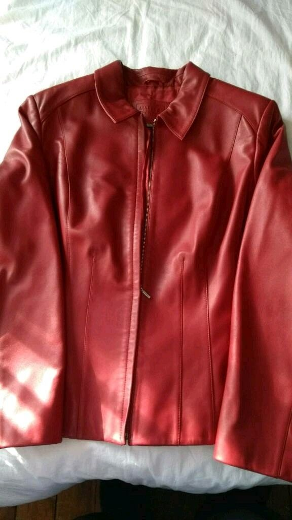 Womens size 20 M&S leather jacket