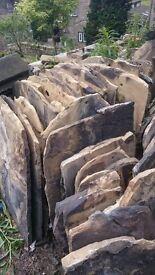 Yorkshire Grey Stone Reclaimed Roof Slates Tiles - Various Sizes - 1 Tonne