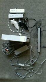 Nintendo Wii console, controllers, numchuks, games, wheels, gun etc.