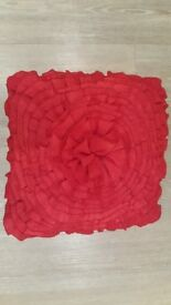 Red Rose Effect Cushion Unused