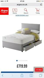 Kingsize Divan Bed with 4 Drawers and Silentnight Mattress