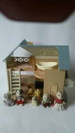 Sylvanian families house with dog family