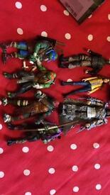 Teenage mutant ninja turtles figures and van