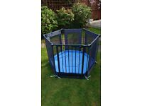 Lindham safe and secure fabric play pen & room divider