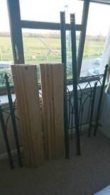 Vintage double bed frame iron black