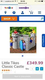 Little tikes castle and slide