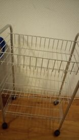 Fruit bowl and kitchen trolley. Mint condition