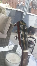 Guitar banjo 6 string great condition new strings and new bridge on it