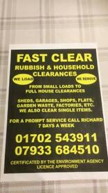 Rubbish clearance rochford Rayleigh Hockley Hullbridge Southend / house clearance