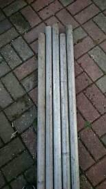 £15 each Aluminium 8ft scaffold poles