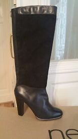 Ladies Next black leather and suede boots