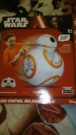 Star wars toy £20 new in box,blue robot new in box £20 other toys £5 each