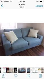 Duck egg blue 3 seater sofa