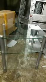 glass tv table 3 tier