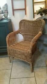 Wicker Chair Grey x 2
