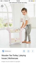 Brand new childrens wooden tea trolley
