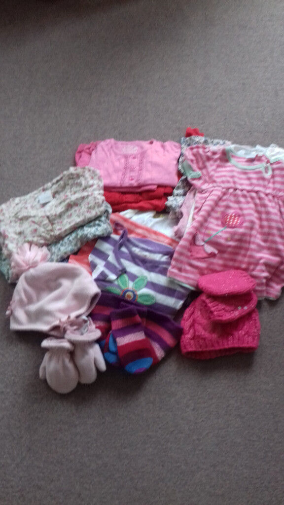 Bundle of girls clothes age 18months -2 years.