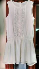 Girls white lacy top