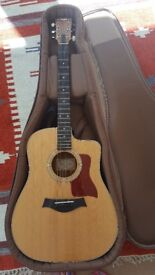 Taylor 210ce Electro Acoustic Guitar with case