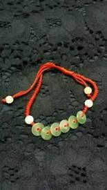 Handmade fortune coin Jade bracelet