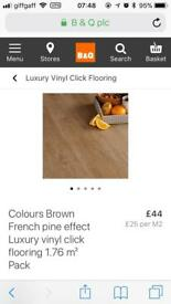 12 packs of French Pine effect luxury click vinyl flooring