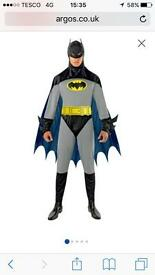 Two Costumes - Batman and Superman - One Medium, One Large, each worn once