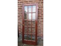 Internal glazed door
