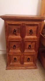 6 Drawer Wooden Unit