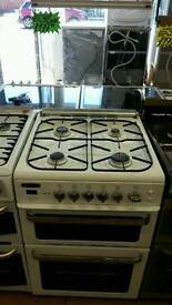 LEISURE 60CM GAS DOUBLE OVEN COOKER IN WHITE