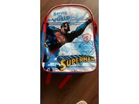SUPERMAN JUNIOR BACKPACK CHILDS KIDS RUCKSACK SCHOOL BAG