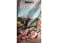 1 bag of rainbow cobbles. Not Used.