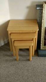 Nest of 3 tables - £30