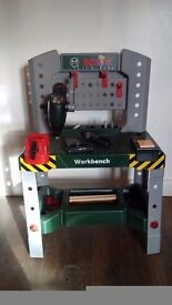 Toy Bosch Workbench with drill and other tools