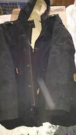 Men's parka with fleece lining size L