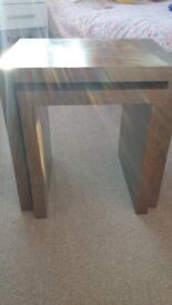 Next walnut nest of tables excellent condition