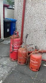 gas cylinders and torches