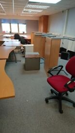 office furniture - desks, chairs, drawers etc.