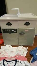 Childrens Play Kitchen Item - Sink/dishwasher/fridge