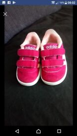 Infant size 3 Adidas trainers